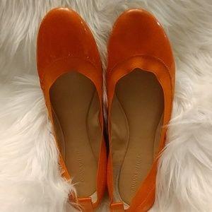 Orange patent leather Banana Republic Flats
